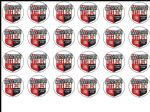 24 x Brentford Football Edible Rice Wafer Paper Cupcake Top Toppers